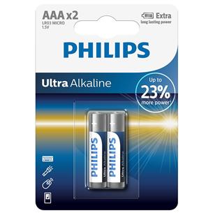 2 x Battery Philips LR03E AAA Ultra Alkaline LR03E2B/10