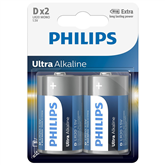 Батарейки LR20E D Ultra Alkaline, Philips / 2шт