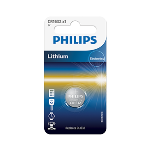 Patarei Philips CR1632 3 V Lithium