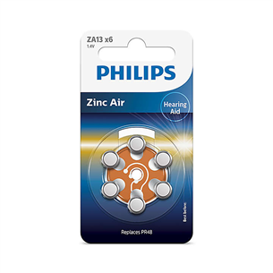 Батарейки Philips ZA13 1.4 V 6 Zinc Air (PR48) (6 шт) ZA13B6A/00