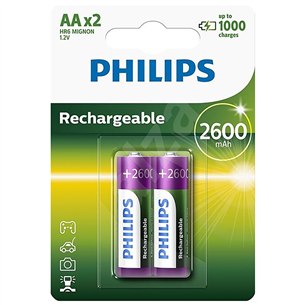 Rechargeable Battery Philips AA 2600 mAh (2 pc)