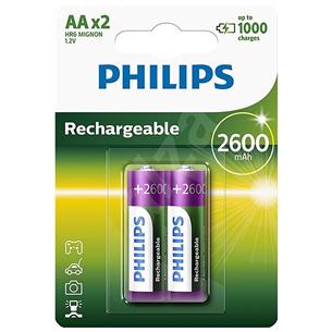 Akupatarei Philips AA 2600 mAh (2 tk)