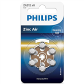 Battery Philips ZA312 1.4 V Zinc Air (PR41) (6 pc)
