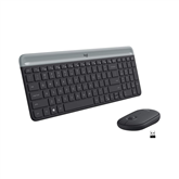 Wireless keyboard + mouse Logitech MK470 Slim Combo (SWE)