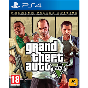 PS4 mäng Grand Theft Auto V: Premium Online Edition 5026555424264