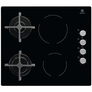 Интегрируемая варочная панель Electrolux (2 газовые + 2 электрические конфорки)