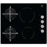 Built-in hob, Electrolux / ceramic & gas