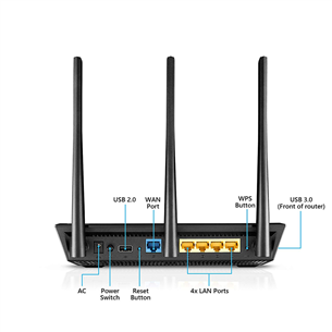 WiFi router Asus RT-AC66U B1 Dual Band