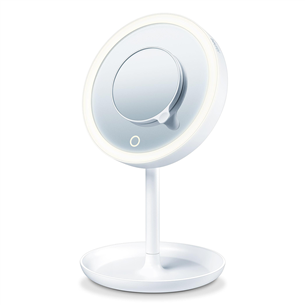 Iilluminated cosmetics mirror with magnetic mirror Beurer