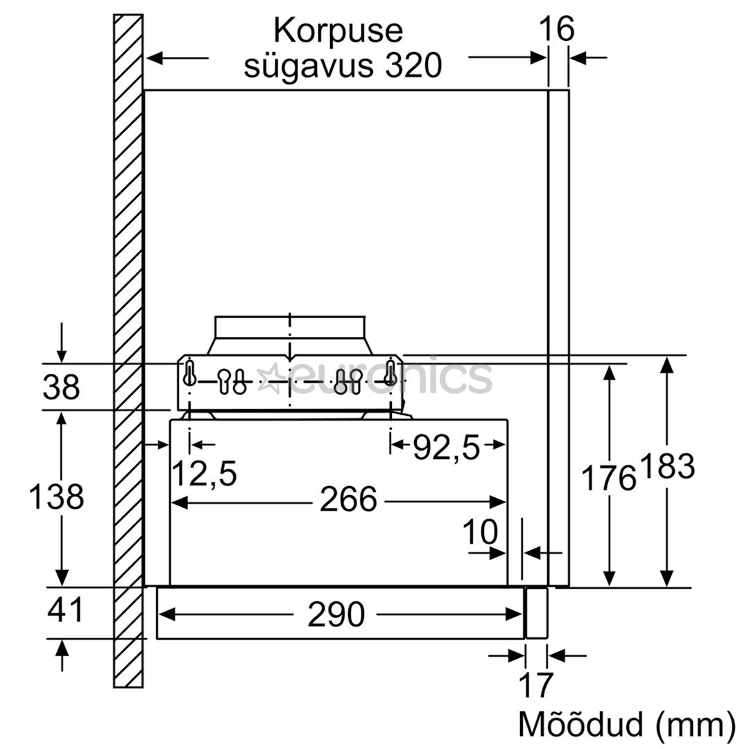 Integreeritav õhupuhasti Bosch (404 m³/h)
