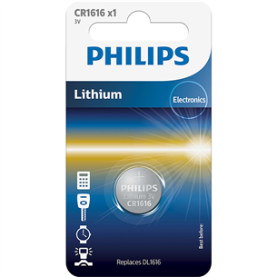 Patarei Philips CR1616 3 V Lithium