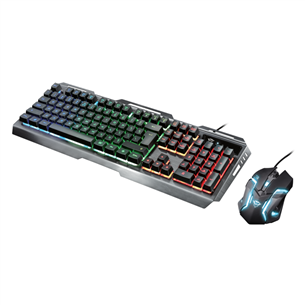 Keyboard + mouse GXT 845 Tural Gaming Combo, Trust / US