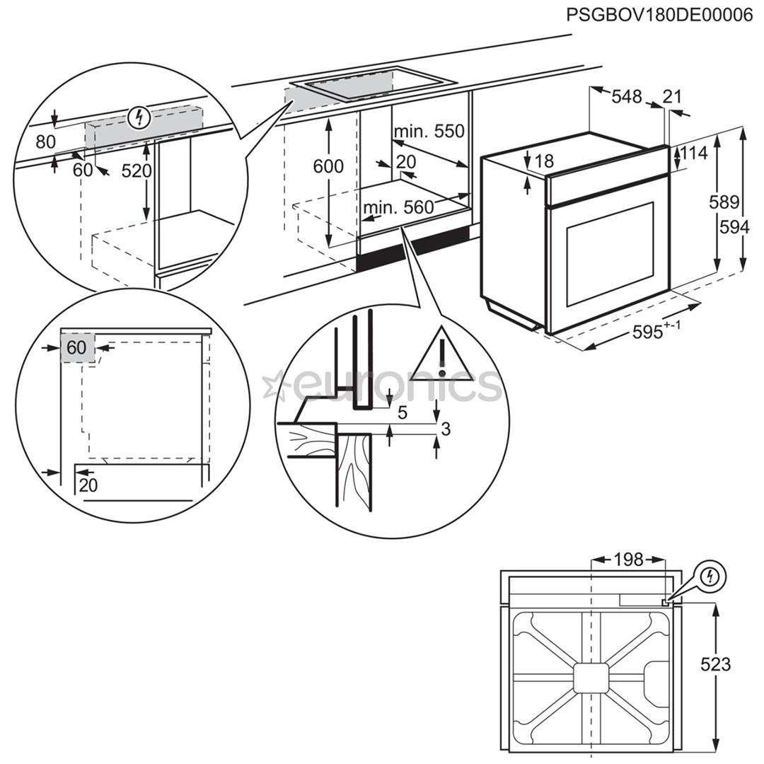 Integreeritav ahi Electrolux (katalüütilise puhastusega)