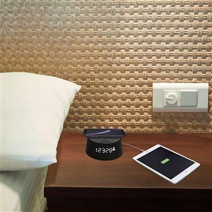 Часы с будильником и беспроводной зарядной панелью Qi Philips (10 Вт)