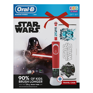 Electric toothbrush Braun Oral-B Starwars + travel case D100STARWARSGP