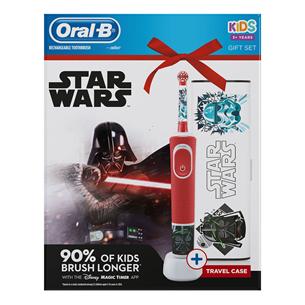 Электрическая зубная щетка Braun Oral-B Starwars + футляр D100STARWARSGP