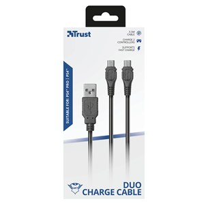 Cable for charging PS4 Trust GXT222 Duo
