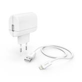 Комнатное зарядное устройство + кабель Lightning Hama (12 Вт)
