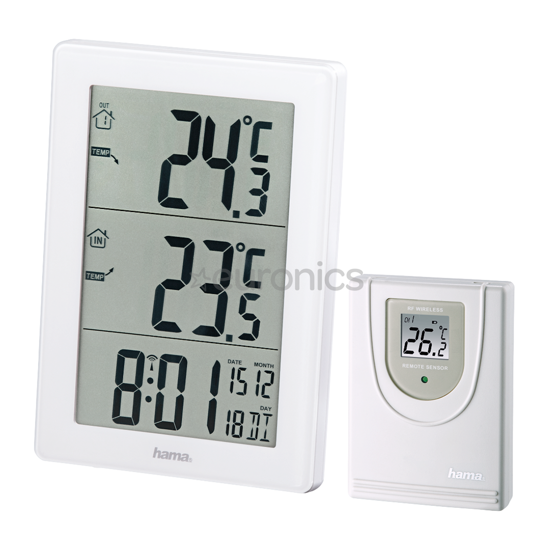 Auto Car In-Outdoor Thermometer W//Sensor for A//C Digital LCD Disp Rf TEAF