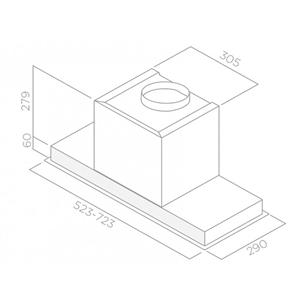 Integreeritav õhupuhasti Elica Hidden (603 m³/h)