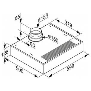 Built-under cooker hood Miele (545 m³/h)
