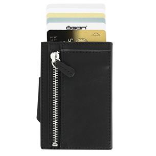 Kaarditasku Ögon Cascade Zipper CZ-FULL-BLACK