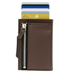 Kaarditasku Ögon Cascade Zipper CZ-D-BROWN
