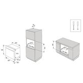 Интегрируемый духовой шкаф Gorenje (пиролитическая очистка)