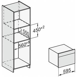 Integreeritav kompaktahi Miele (mikrolainefunktsiooniga)
