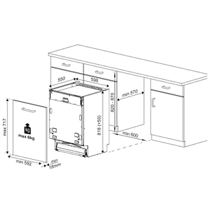 Built-in dishwasher Beko (13 place settings)