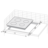 Built - in ceramic hob, Hansa