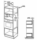 Интегрируемая микроволновая печь с грилем, Hansa / объём: 20 л