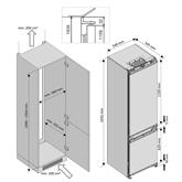 Интегрируемый холодильник Beko (193,5 см)