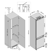 Integreeritav külmik Beko (193,5 cm)