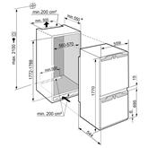 Интегрируемый холодильник Comfort NoFrost, Liebherr / высота: 178 см