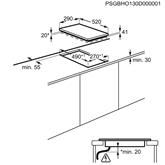 Integreeritav keraamiline pliidiplaat Electrolux