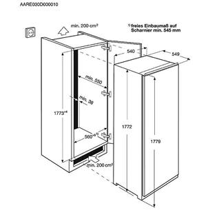 Интегрируемый холодильник, Electrolux (177,2 см)