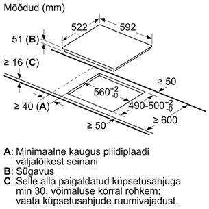 Integreeritav induktsioonpliidiplaat Bosch (raamita)