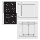 Built - in oven + ceramic hob, Hansa
