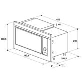 Интегрируемая микроволновая печь Hansa / объем: 20 л
