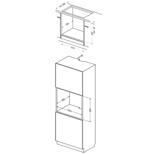 Built-in oven Hansa (65 L)