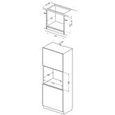 Built-in oven Hansa