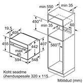 Integreeritav kompaktahi Bosch (aurufunktsiooniga)