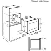 Integreeritav mikrolaineahi Electrolux (25 L)