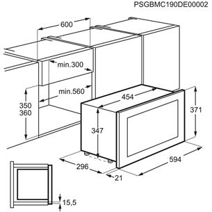 Integreeritav mikrolaineahi Electrolux (17 L)