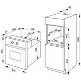 Интегрируемый духовой шкаф, Hansa / объём: 66 л