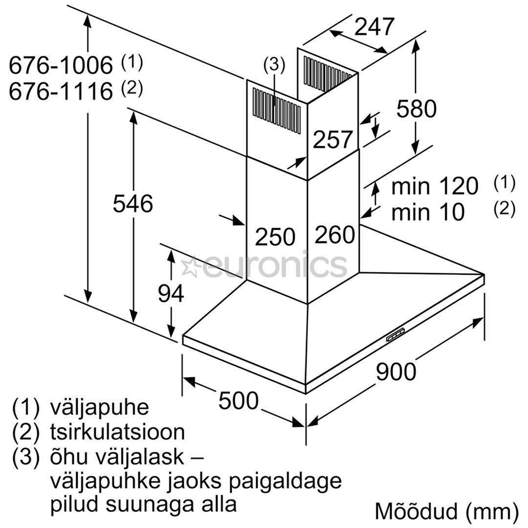 Вытяжка Bosch (610 м³/ч)