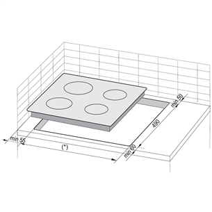 Integreeritav induktsioonpliidiplaat Hansa