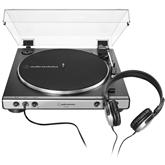 Vinüülplaadimängija + kõrvaklapid Audio Technica LP60