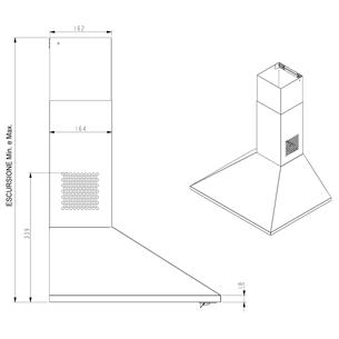 Cooker hood, Beko / 368 m³/h